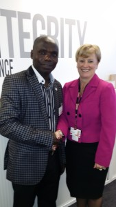 Anderson with Carole Baine General Manager, Country Services, Silver Chain